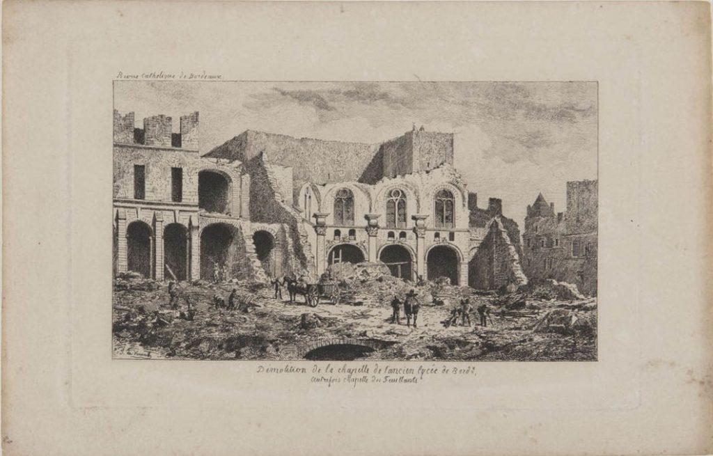 demolition-de-lancienne-eglise-des-feuillants-eau-forte-de-jules-verneilh-entre-1881-et-1885-revue-catholique-de-bordeaux-collection-maq