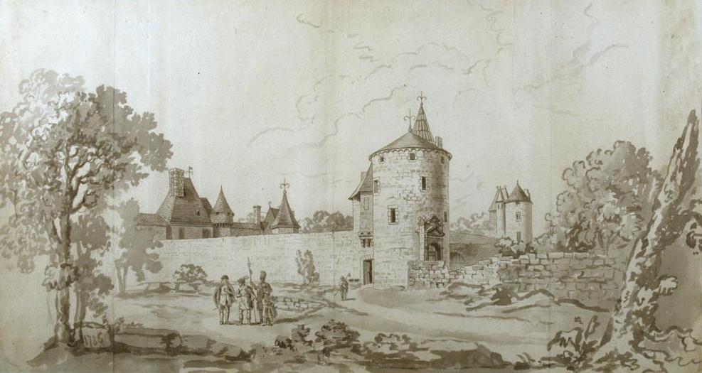Château de Montaigne en Dordogne, 1786, Gonzales Antoine