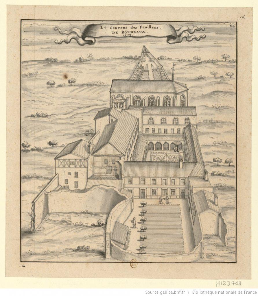 Le couvent des Feuillants, dessin de 1707, BNF
