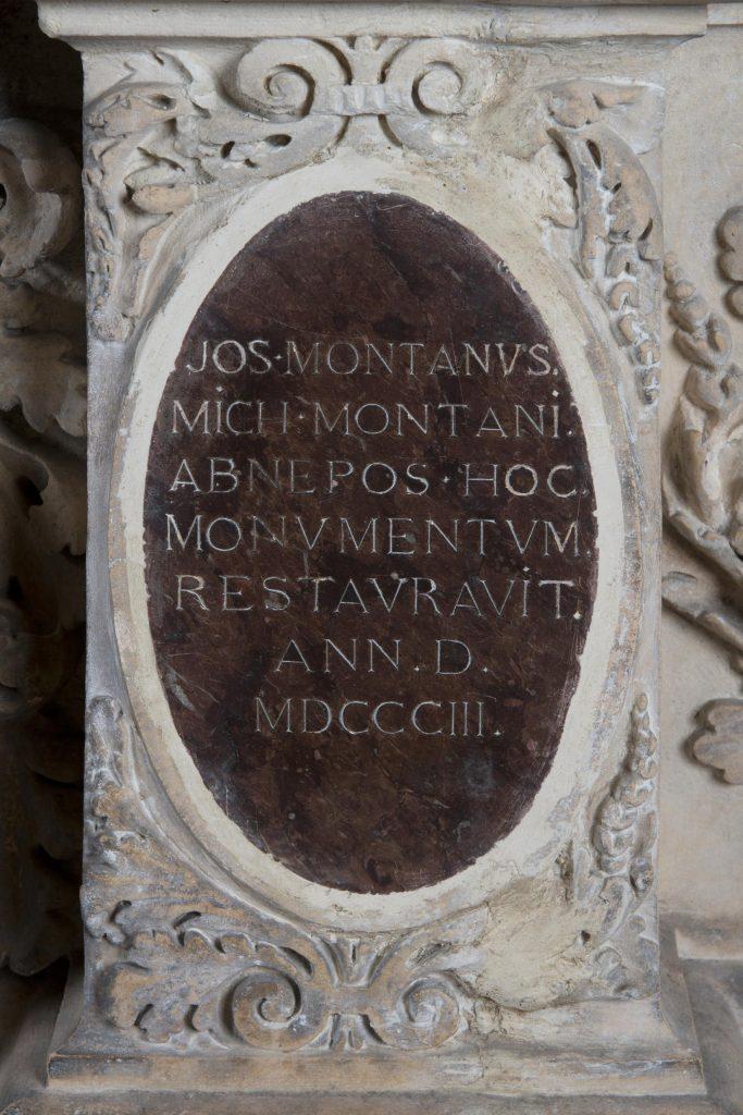 Cénotaphe de Montaigne, détail, médaillon, musée d'Aquitaine