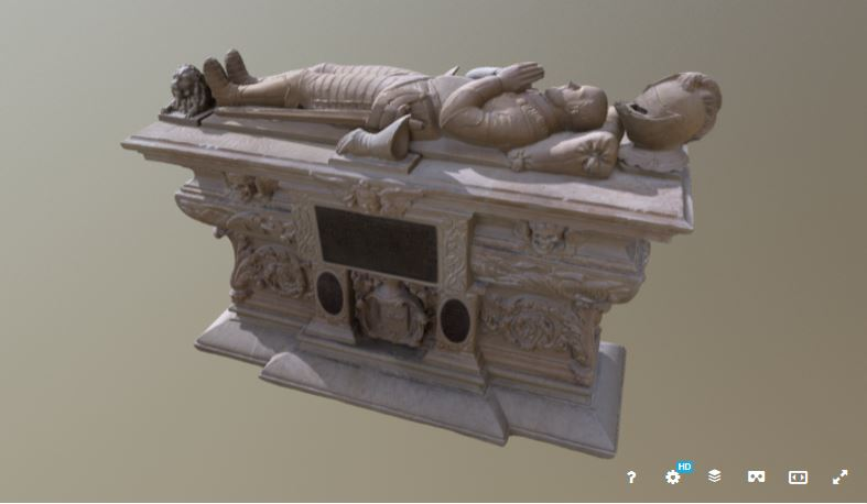 Photogrammétrie du cénotaphe de Montaigne © Musée d'Aquitaine Museo3D